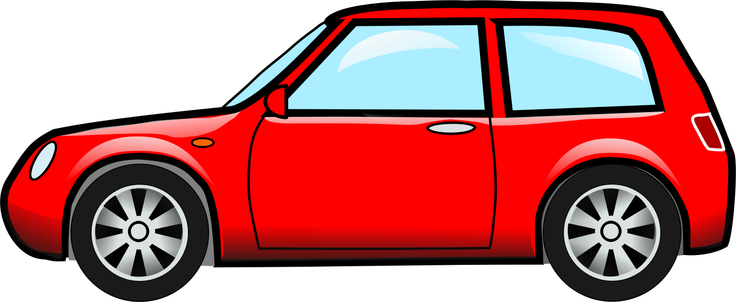 1500x617 Red Car Vector Image