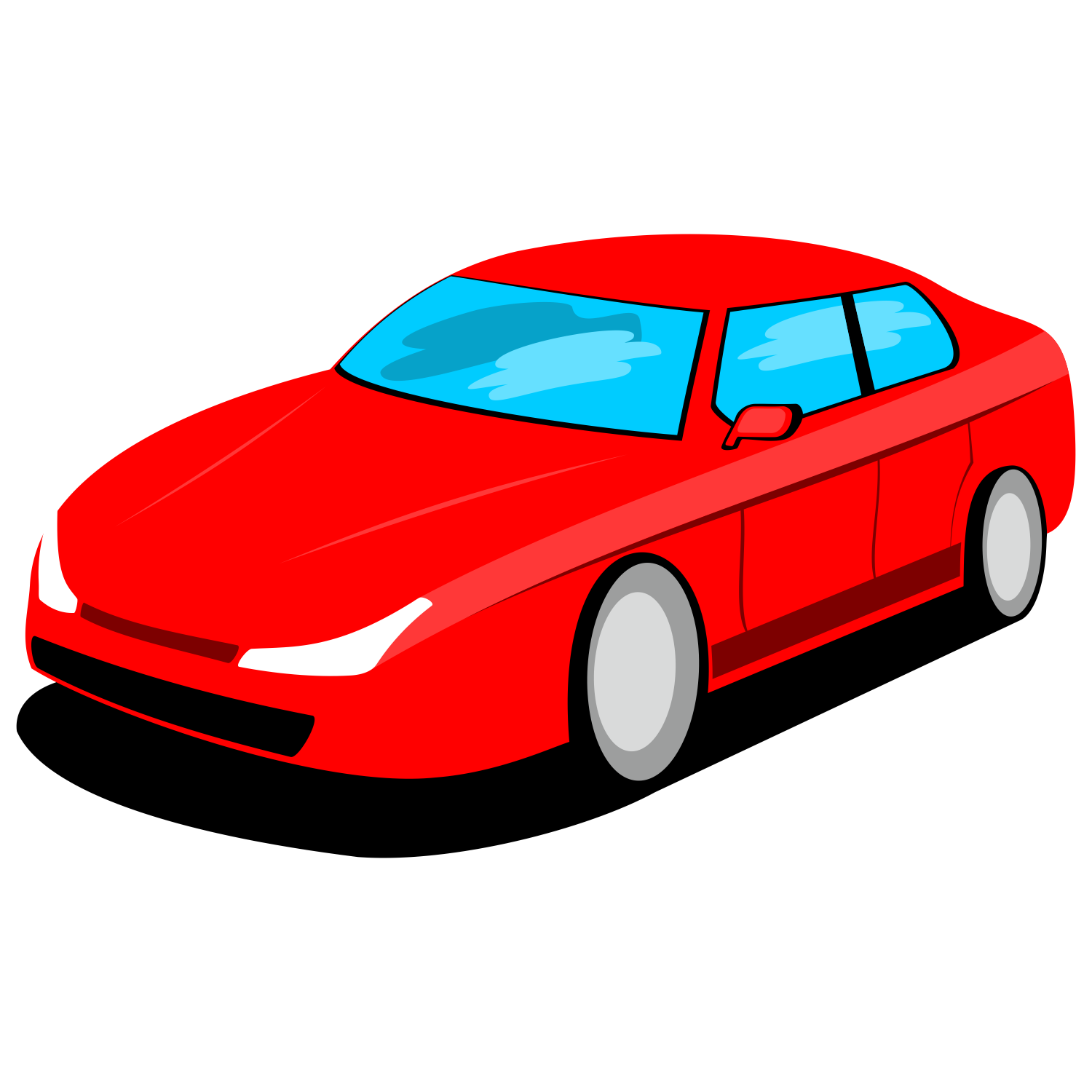 1500x1500 Vector For Free Use Red Car Vector