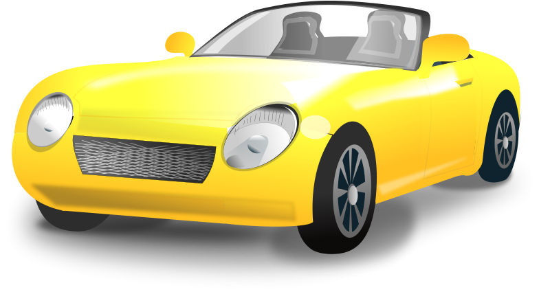 800x425 Yellow Convertible Sports Car Free Vector 4vector