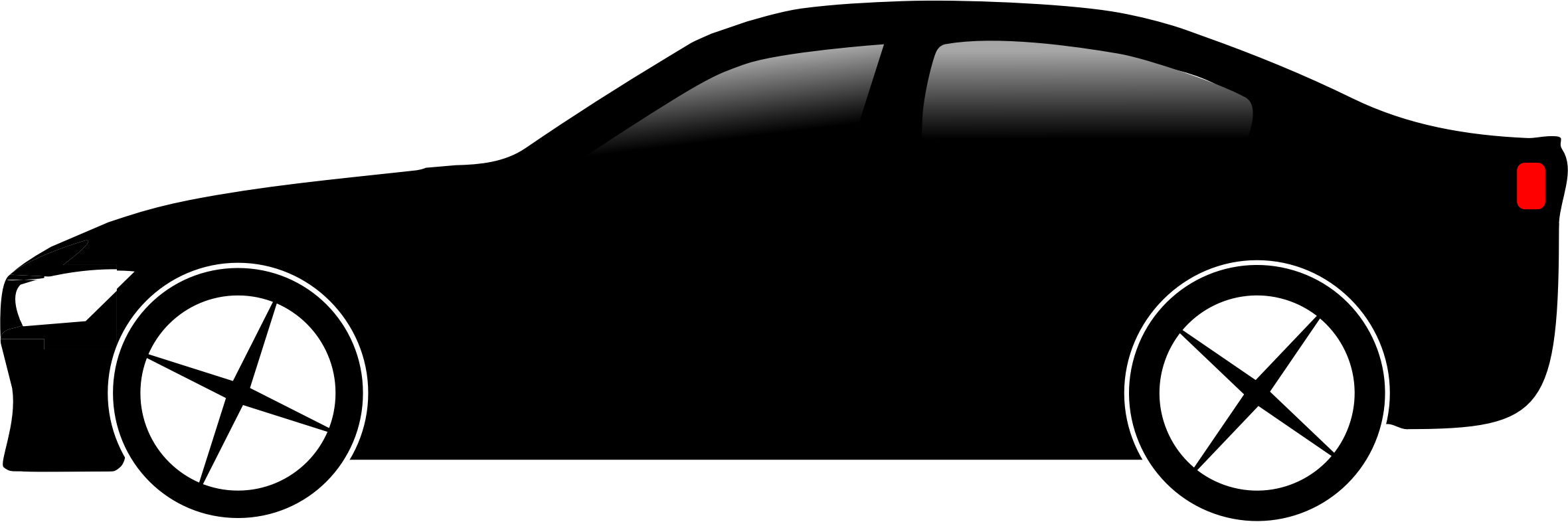 2361x792 Black Car Vector Image