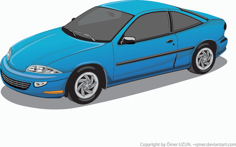 800x498 Blue Car Vector