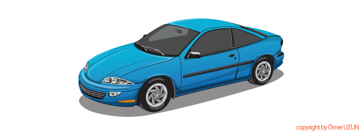 718x264 Blue Car Vector