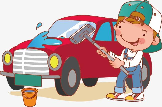 650x433 Car Wash Cartoon Children, Car Vector, Cartoon Vector, Children