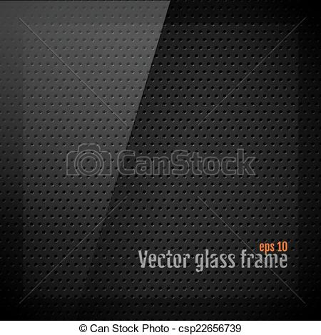 450x470 Vector Glass Frame Background On Carbon Fiber Texture.