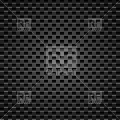 400x400 Dark Carbon Fiber Weave Background Or Texture Vector Image