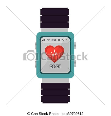 450x470 Smart Watch Cardio Fitness. Smart Watch Monitoring Cardio