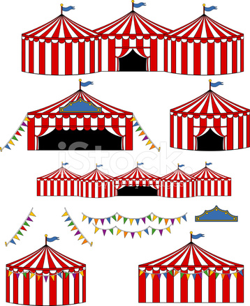 358x439 Big Top Circuscarnival Tents Stock Vector