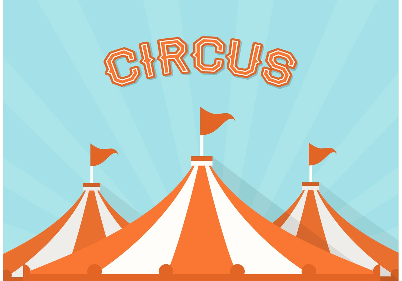 1400x980 Free Big Top Circus Vector Background