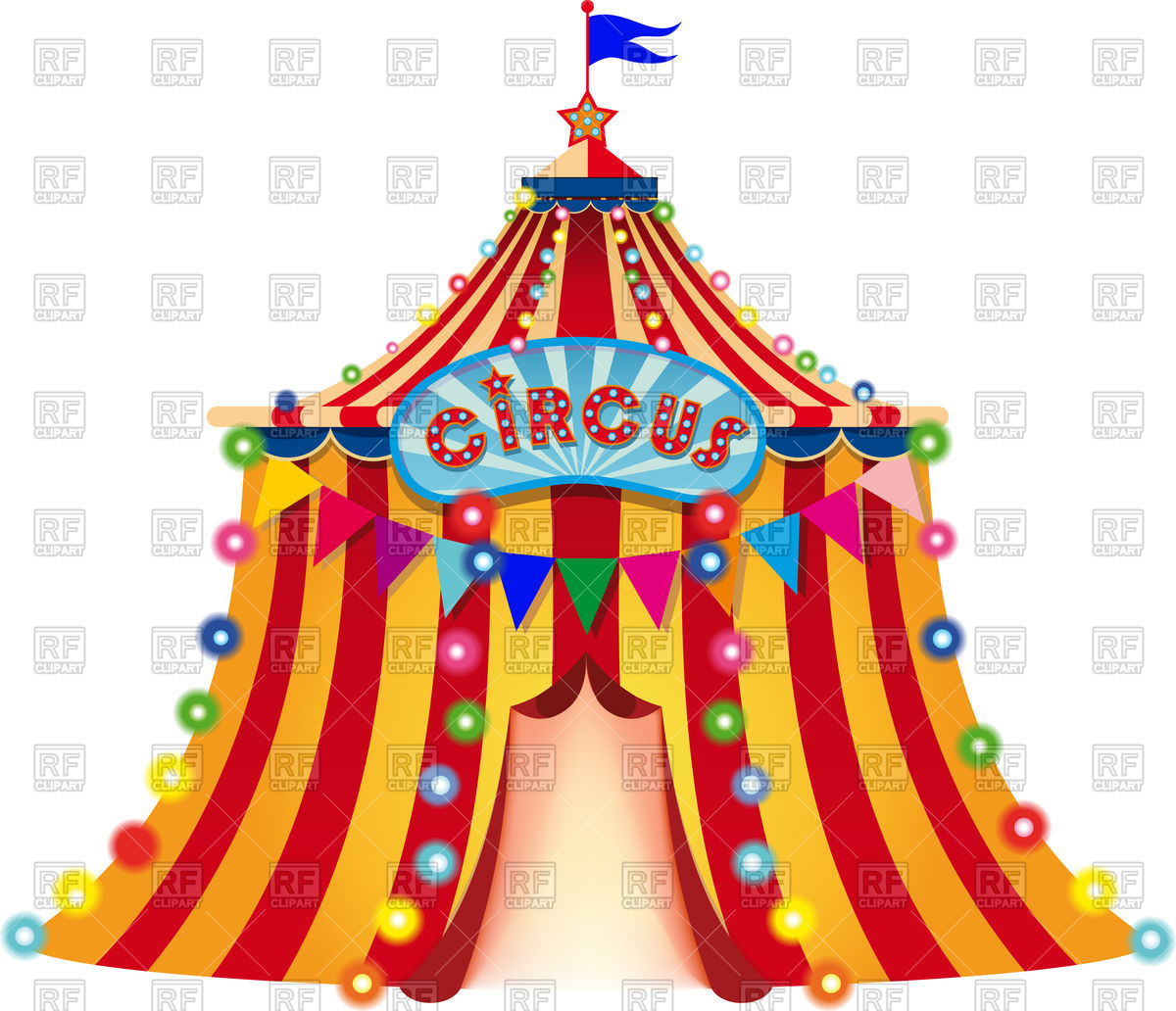 1200x1032 Large Circus Tent Vector Image Vector Artwork Of Sport And