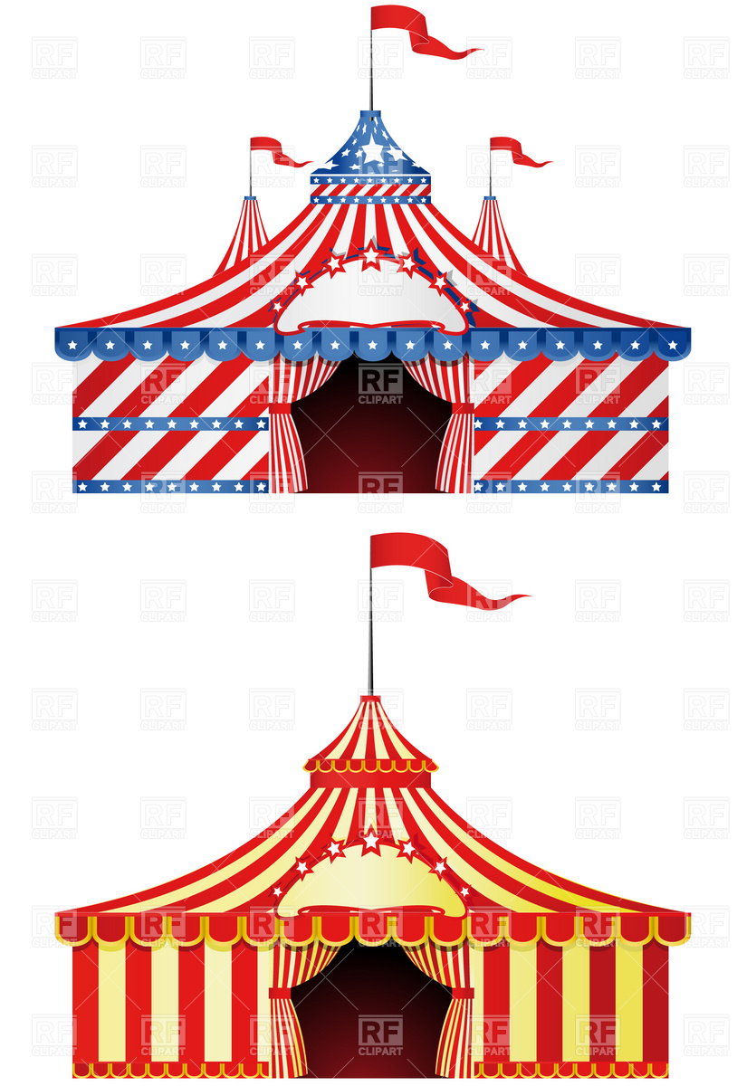 814x1200 Two Big Top Circus In Different Styles Vector Image Vector