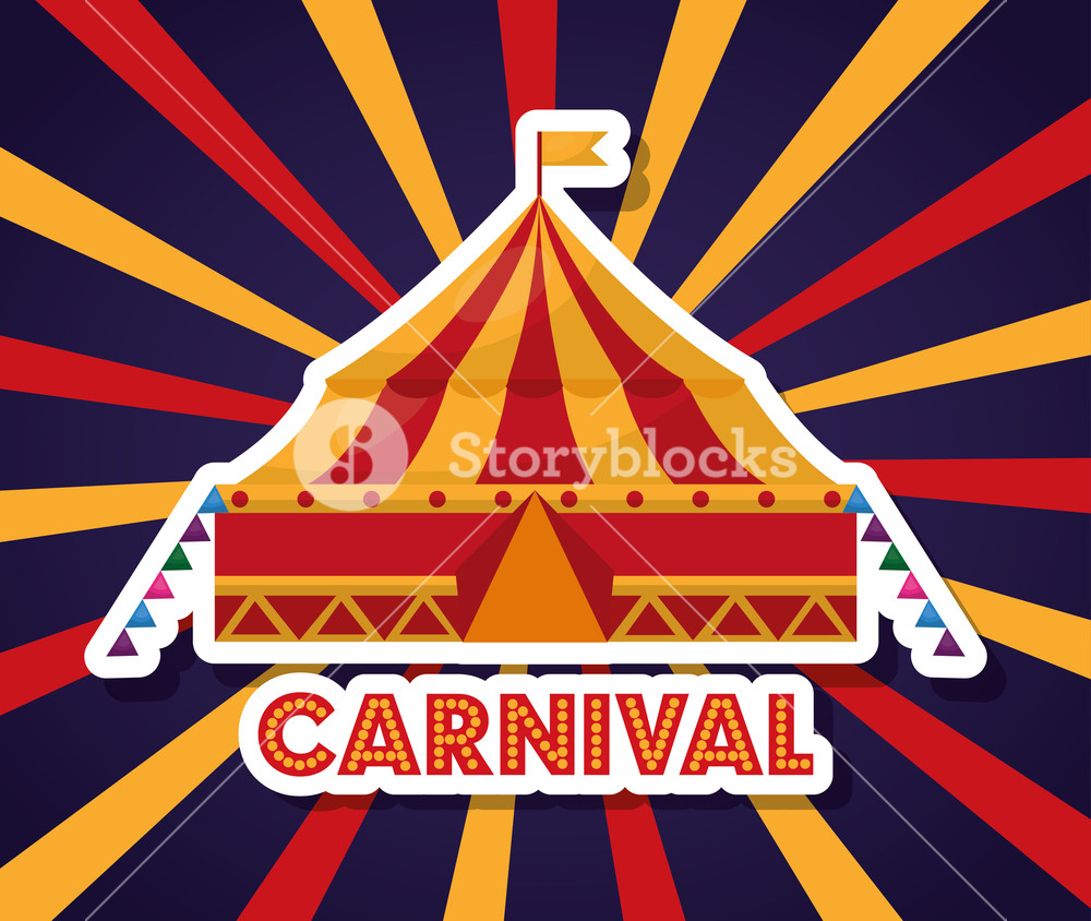 1000x844 Carnival Tent Fair Festival In Starburst Background Vector
