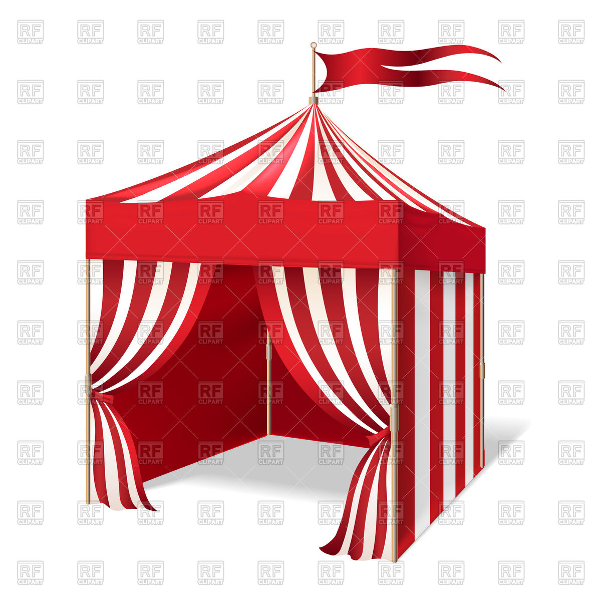 1200x1200 Carnival Tent Vector Image Vector Artwork Of Objects