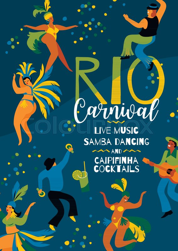 566x800 Brazil Carnival. Vector Template For Carnival Concept And Other