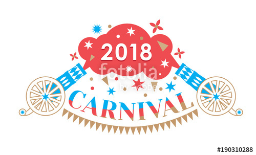 500x303 Design Concept Of Carnival. Carnival Cannon, Flags, Salute As