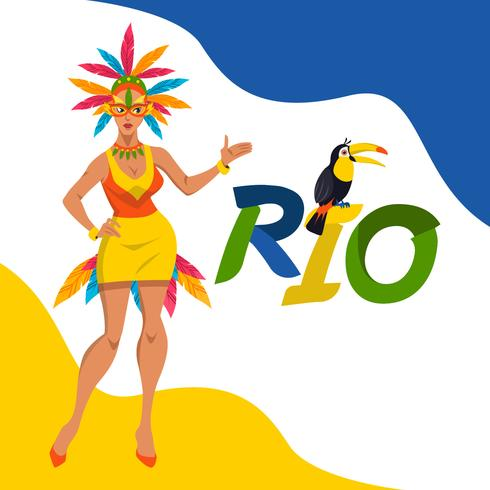 490x490 Rio Carnival Vector Illustration Concept