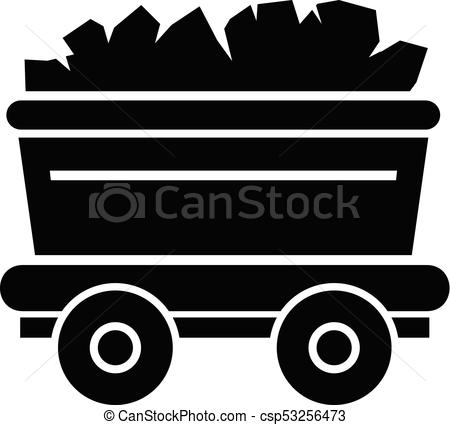 450x425 Mine Cart Icon, Simple Style. Mine Cart Icon. Simple Illustration