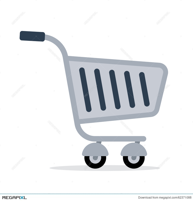 800x830 Shopping Trolley Cart Vector Color Flat Icon Illustration 62371088