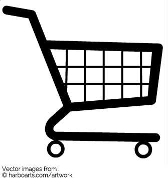 335x355 Download Black Shopping Cart