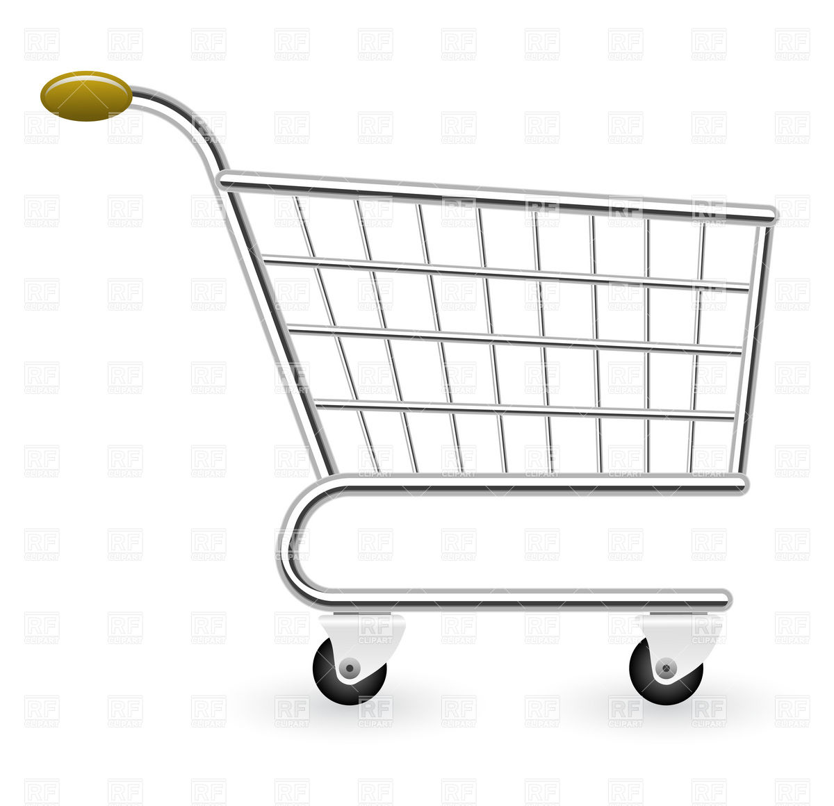 1200x1160 Empty Shopping Cart Vector Image Vector Artwork Of Business