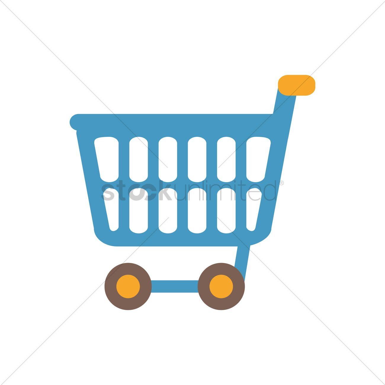 1300x1300 Free Shopping Cart Vector Image