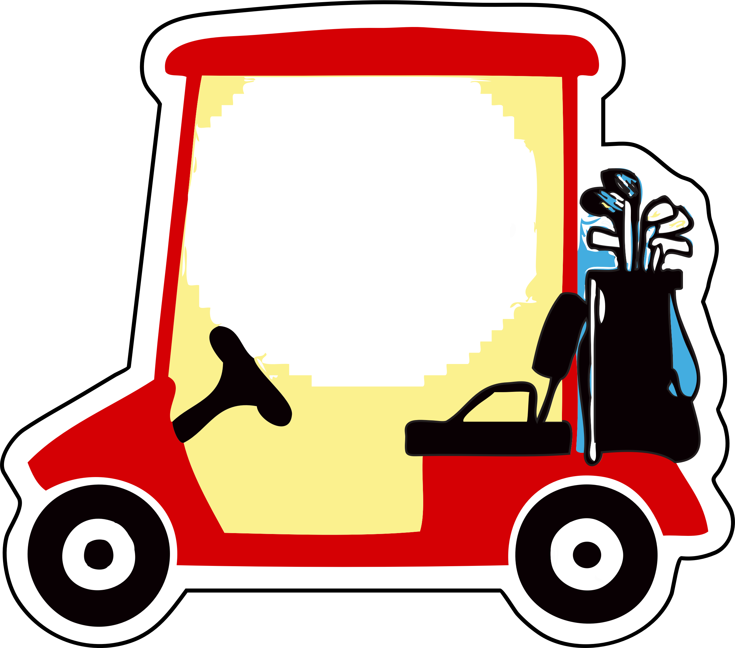 2400x2115 Golf Cart Vector Clipart Image
