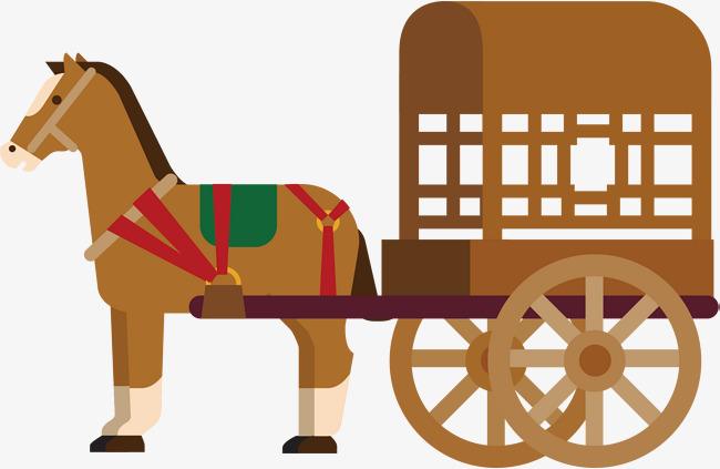 650x423 Horse Cart Vector, Horse Vector, Hand, Brown Png And Vector For