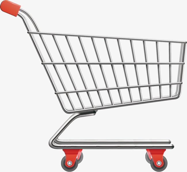 650x600 Realistic Vector Supermarket Shopping Cart, Vector, Vector