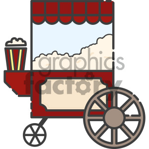 300x300 Royalty Free Popcorn Cart Vector Royalty Free Icon Art 405417 Icon