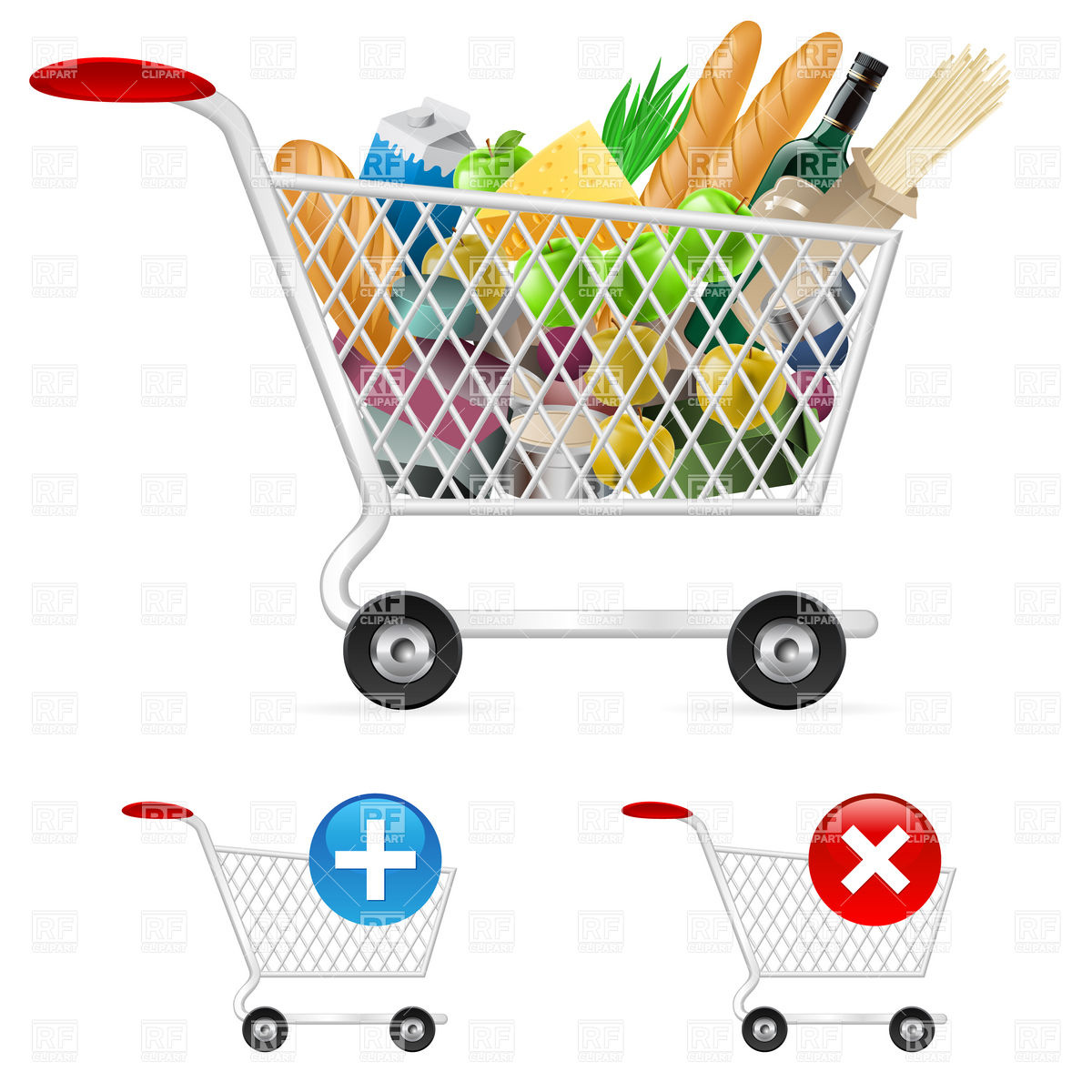 1200x1200 Shopping Cart Full Of Products Icon Vector Image Vector Artwork