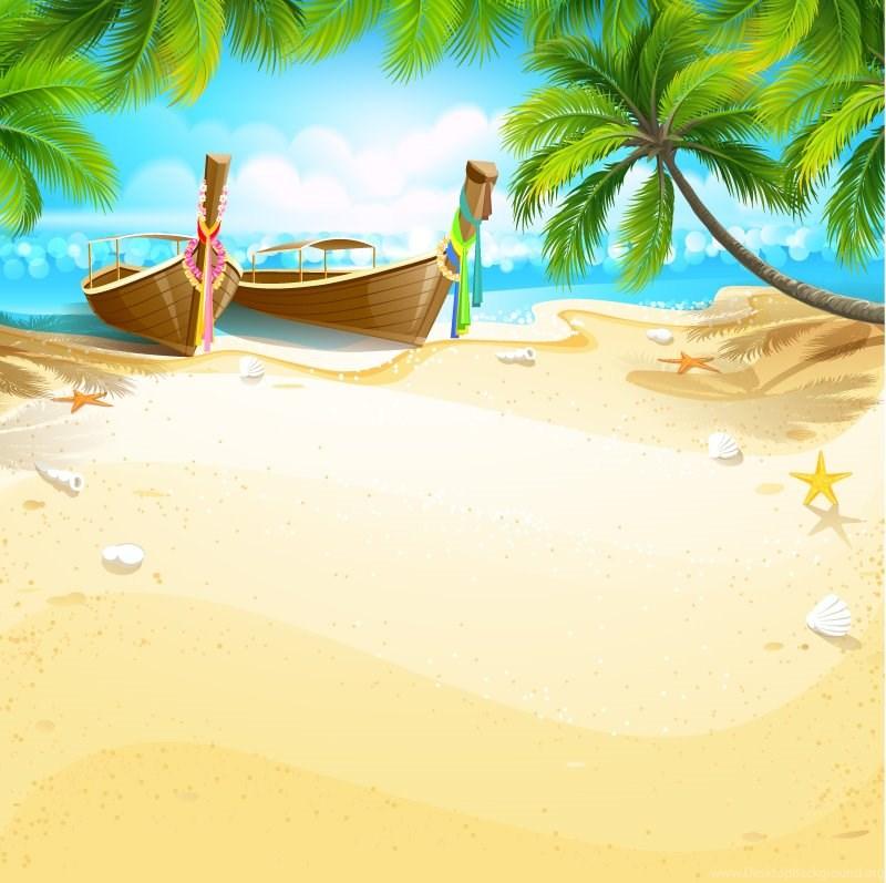 800x797 Cartoon Tropical Island Backgrounds Vector Material Cartoon