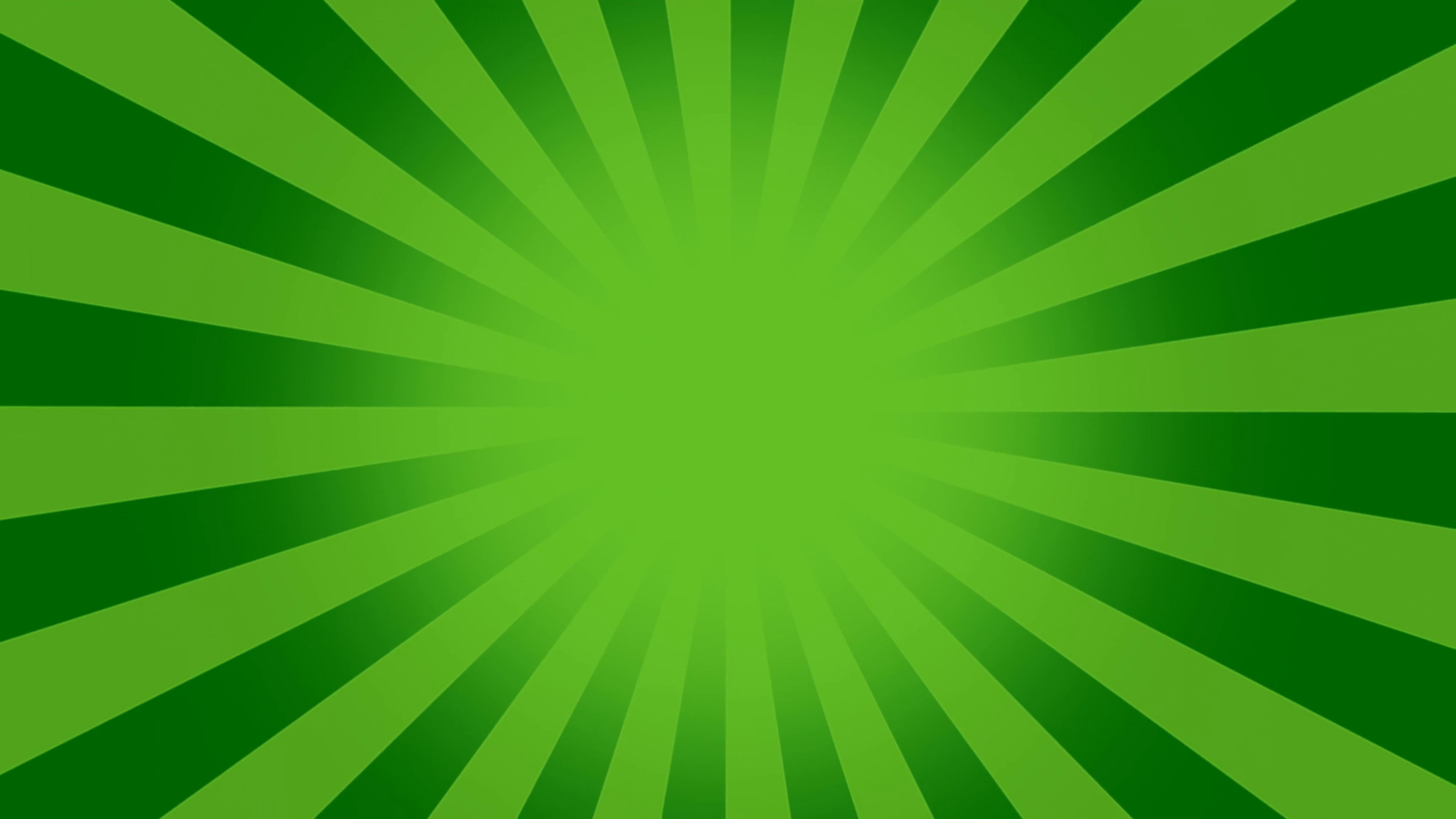 4096x2304 Green Burst Vector Background. Cartoon Background With Space For