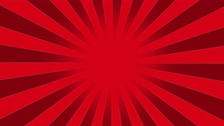 320x180 Red Burst Vector Background. Cartoon Background With Space For
