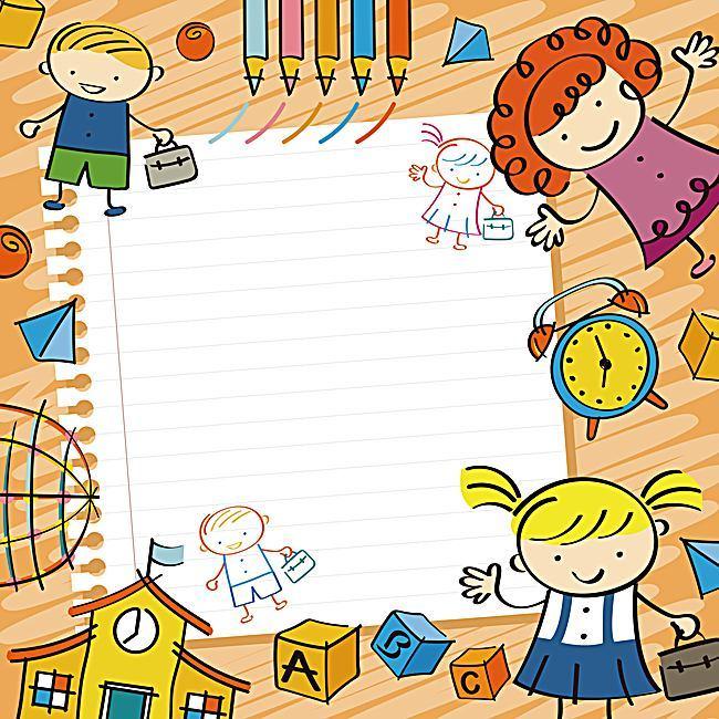 650x650 Vector Cartoon Background Early Childhood Education, Vector
