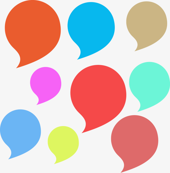 650x661 Colored Bubbles Vector Dialog, Speech Bubble, Bubble, Bubble