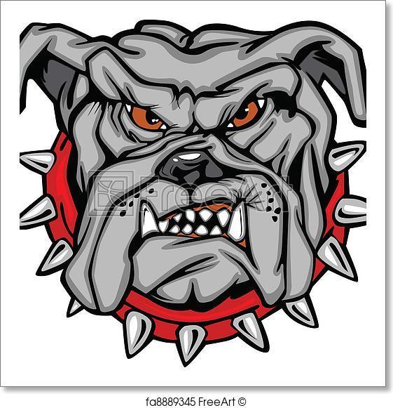 561x581 Free Art Print Of Bulldog Cartoon Face Vector. Cartoon Vector