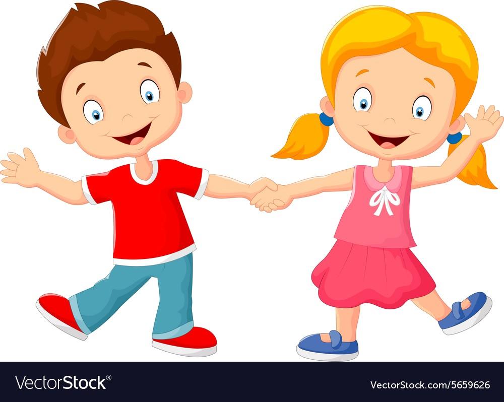 1000x798 Cartoon Little Kids Holding Hand Vector 5659626 13 Hands