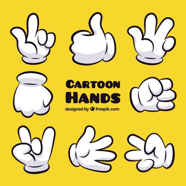 626x626 Cartoon Hand Gestures Vector Premium Download