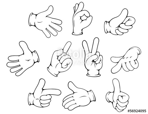 500x387 Cartoon Hand Gestures Set Stock Image And Royalty Free Vector