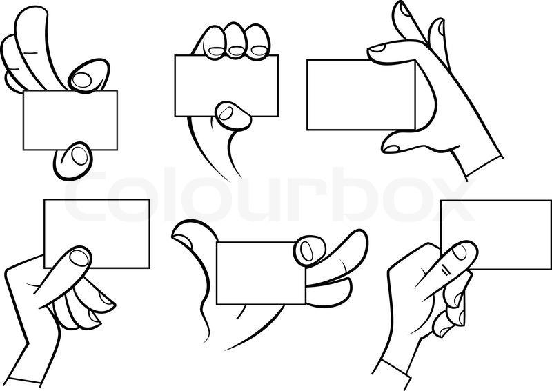 800x567 Cartoon Hands Holding Card Stock Vector Colourbox