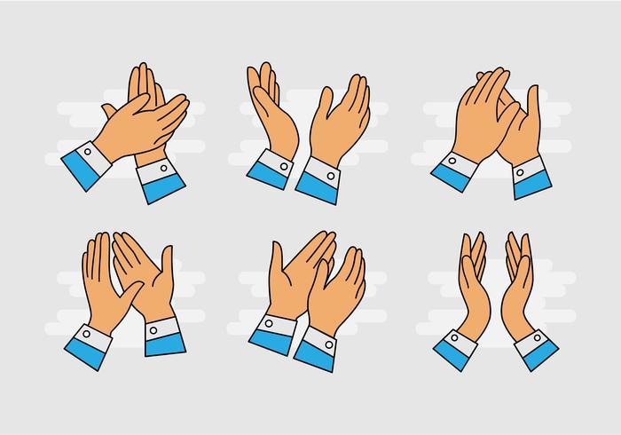 700x490 Cartoon Hands Clapping Vector