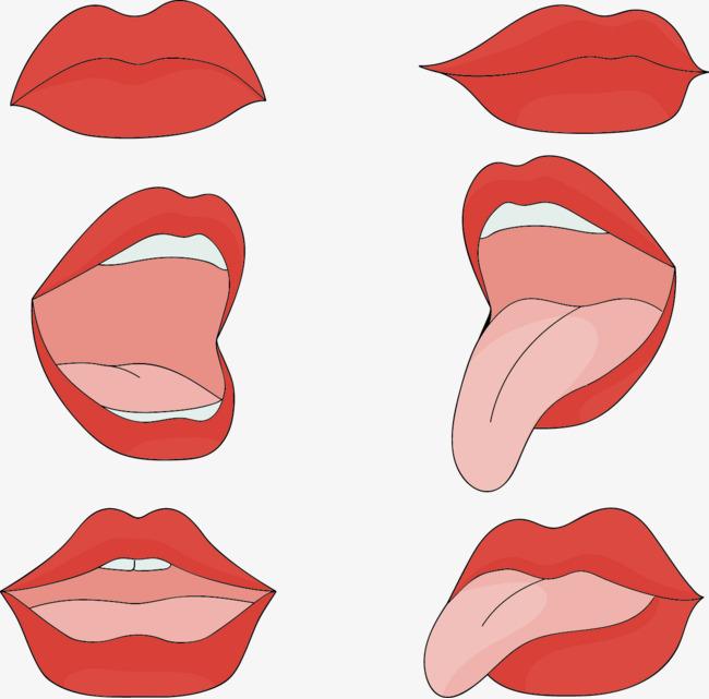 650x641 Vector Hand Drawn Cartoon Mouth, Cartoon Vector, Mouth Vector