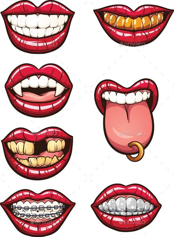 590x800 Cartoon Mouths (Cs, Braces, Cartoon, Character, Fang, Female