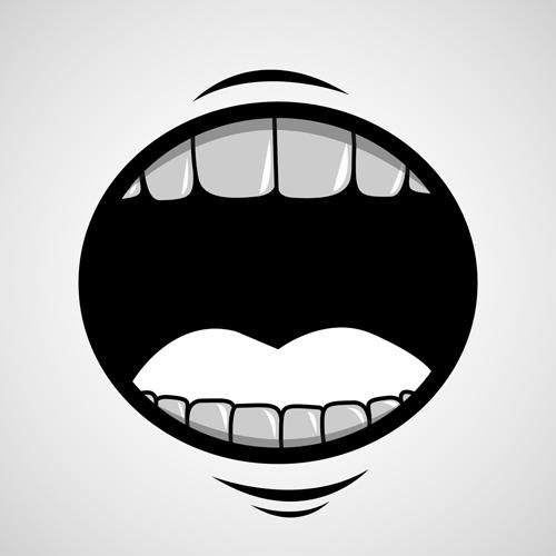 500x500 Cartoon Mouth And Teeth Vector Set 01