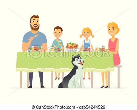 450x361 Happy Family Having Dinner Together