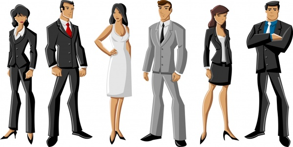 600x301 Business People Vector Cartoon Characters Free Vector In
