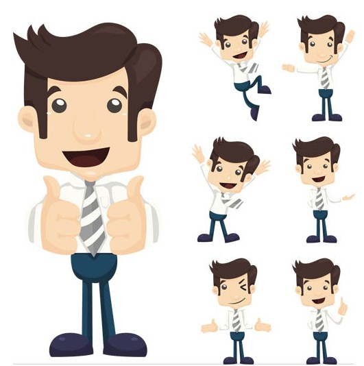 531x534 Working Cartoon People Vector Ai Format Free Vector Download