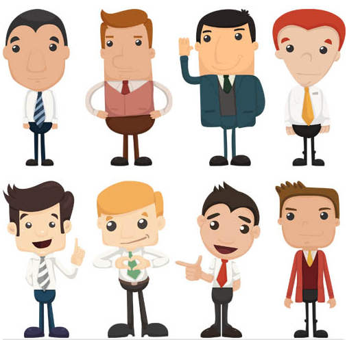 506x497 Cartoon Business People 5 Ai Format Free Vector Download