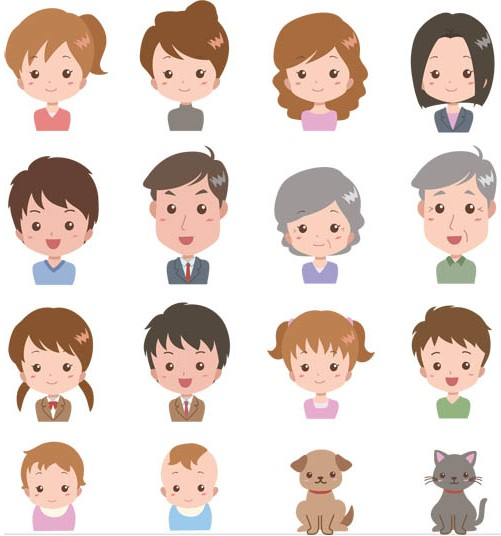 501x536 Cartoon People 2 Ai Format Free Vector Download