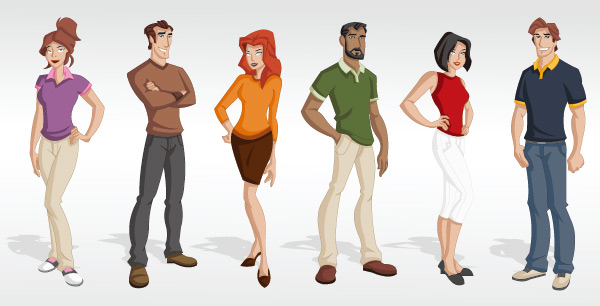 600x306 Cartoon People 4 Free Vector Graphic Download
