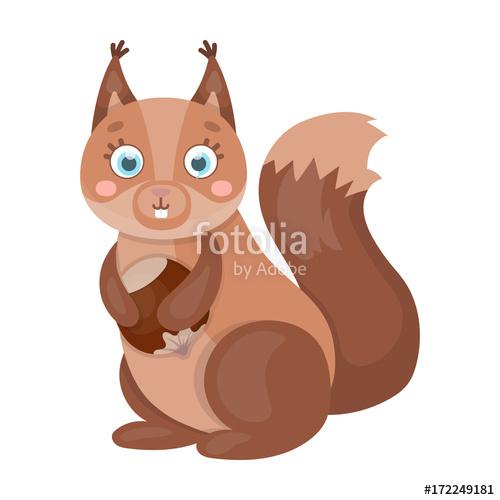 500x500 Squirrel, Single Icon In Cartoon Style.squirrel, Vector Symbol